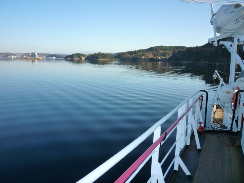 The Byfjord looking east. Uddevalla is discernable in the innermost part of the fjord. Photo by Lena Viktorsson.