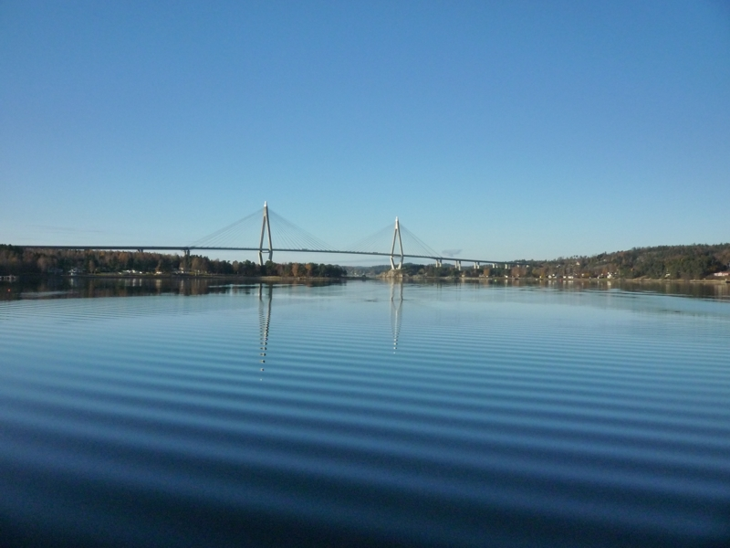 The Byfjord looking to the west. The Sunninge bridge crosses the sill. Photo by Lena Viktorsson.