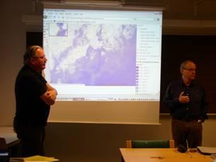 Planning of Utö surveys. Professor Anders Stigebrandt (University of Gothenburg) and Professor Lars Rahm (Linköping University)